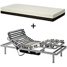 Gerialife® Pack Cama articulada con colchón viscoelástico desenfundable ...