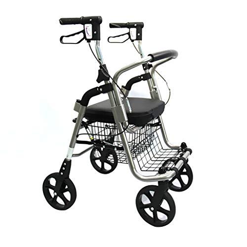 Rollende Wanderer Walker Einkaufswagen - Senioren Einkaufswagen Kaufen Sie Lebensmittel Old Man Trolley Tragbarer Faltrollstuhl Multifunktions-Walker Indoor / Outdoor-Steh-Geh-Rahmen / Mit Armlehnen