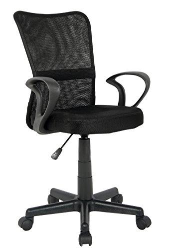 SixBros. Bürostuhl Drehstuhl Schreibtischstuhl Schwarz H-298F-2/2122