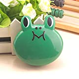 QILEGN Creatives Froschförmige Kontaktlinsenbehälter, Brillenpflege, Reise-Set (grün)