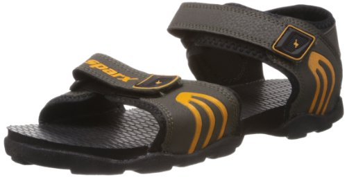 Sparx Men's Olive and Yellow Sandals and Floaters - 6 UK  available at amazon for Rs.399