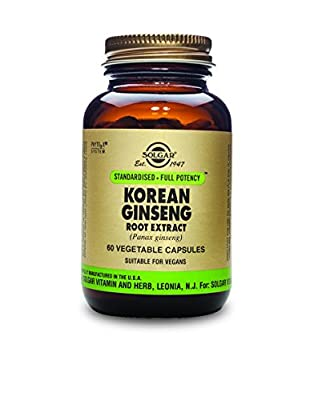 Solgar Korean Ginseng Root Extract Vegetable Capsules - Pack of 60 by Solgar