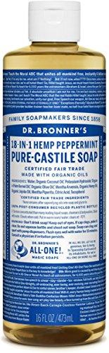 Reine Kastilien Seife (DR Bronners Liquid soap peppermint)