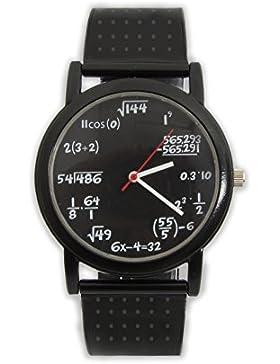 Lustige Mathe Armbanduhr mit Formeln und Gleichungen