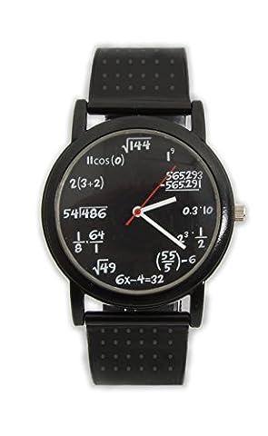 Lustige Mathe Armbanduhr mit Formeln und