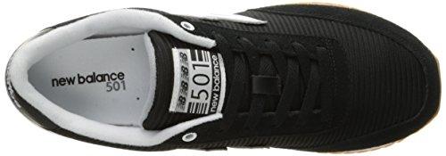 New Balance  Mz501, Herren Sneaker Blue / Gun Metal Schwarz / Weiß