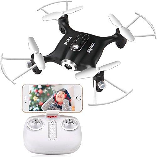 FPV Mini Drone Syma X21W Kleine UFO Drohne Mit Wifi Kamera Echtzeit Quadrocopter Flugstrecke One Key Start /Landung 3D Looping APP Steuerung Kopflos Modus Höhehalte 2.4 GHz Funkfernbedienung 6 Achsen Gyro für Anfänger