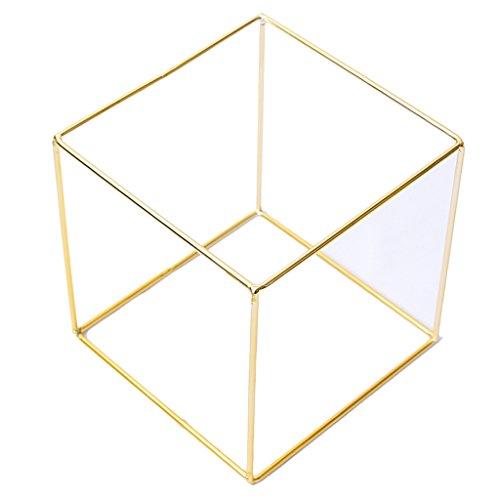 Baoblaze Schmuckaufbewahrung Modeschmuck-Organizer Würfel form für Ringe, Brillen, Ketten - Schmuck Halter - Gold - 15x15x15cm