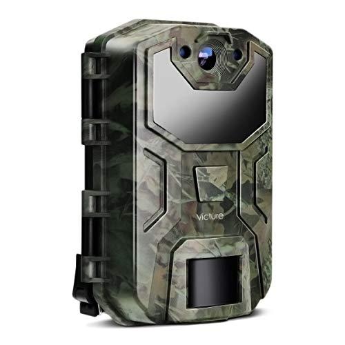 Victure Cámara Caza Nocturna 16MP 1080P con Diseño Impermeable IP66 Cámara de Fototrampeo con Detección de Acción LED IR Sin Brillo para Seguimiento Cinegético de Fauna