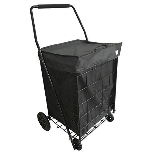 Bo Time Einkaufstrolleys Transporter 2000 Große Kapazität 100L - Faltbarer Metallwagen 4 Räder
