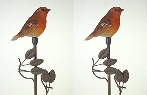 """Solarleuchte Solar-Gartenleuchte Solar-Vogel-Figur\""""Vogel\"""" Solar-Balkon-Blumentopf-Blumenbeet-Terrassen-Wege-Leuchte"""