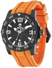 Timberland Men s Quartz Watch with Black Dial Analogue Display and Orange  Rubber Strap TBL.13613JSB cf81fbabdf