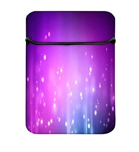 Snoogg lila Hintergrund Muster Design 43,2cm Zugriff Gepolstertes Laptop Schutzhülle Flip Sleeve Tasche