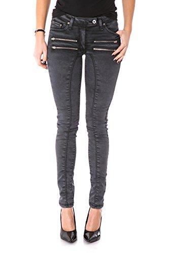 Please jeans donna p08 slim fit stretch p08qeg5wh4 slim xxs nero