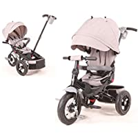 Little Tiger 4 in 1 Kids Children Trike Tricycle with rotating seat and reclining backrest. (Grey)