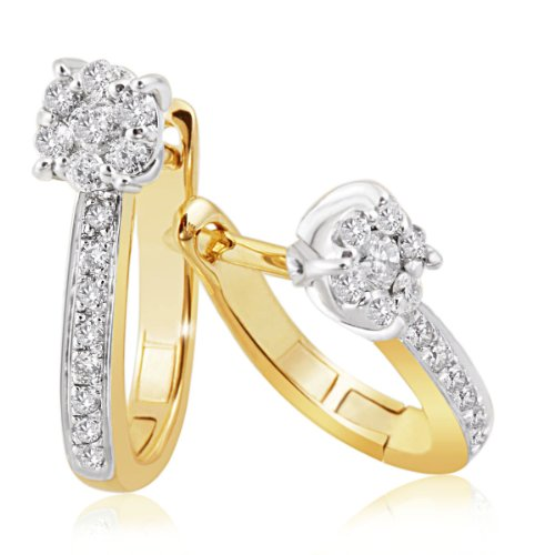 Goldmaid Damen-Ohrringe Glamour Bicolor 585 Gold 30 Diamanten 0,28 ct.