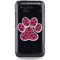 """GRÜV Premium Case - Design """"Rosa Hunde-, Katzenpfotenabdruck"""" - Qualitativ Hochwertiger Druck Schwarze Hülle - für HTC G20 Rhyme Bliss 6330"""