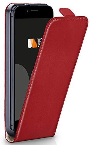 moex® Flip Case mit Magnetverschluss [Rundum-Schutz] passend für iPhone 6S / iPhone 6   360° Handycover aus feinem Premium Kunst-Leder, Rot Flip Leder Hard Case