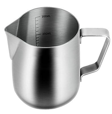 Milk Pitcher,Stainless Steel Milk Cup Milk Frothing Pitcher Milk Jug