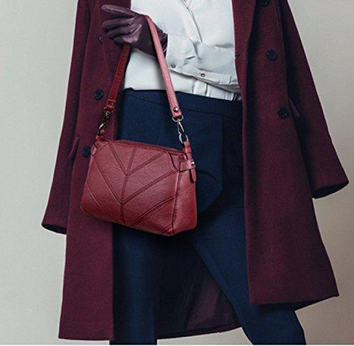 KUWOMINI.Women Bags All Seasons PU Tote Con Ruffles Rivetto Per Evento / Party Shopping Casual Sports Ufficio Formale Ufficio & Carriera Fucsia Blushing Red