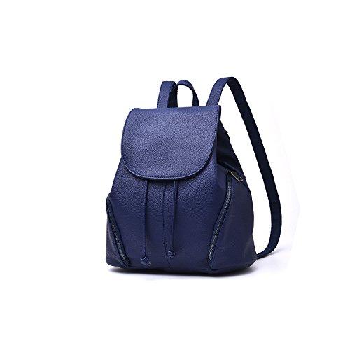 """CARQI Leder Schulrucksack Wasserdichte Casual Daypack für Frauen Mädchen Damen, 13 """"X 4.7"""" x 16.4 """""""