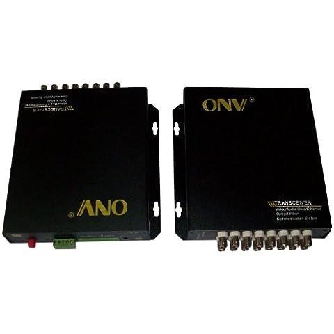 Ottica Toslink in fibra ottica da 16 CH-Ricetrasmittente Video Extender