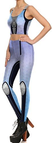 Belsen Damen Leggings mehrfarbig Warrior Small printing Leggings