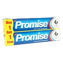 Dabur Promise Anti-Cavity Toothpaste Buy 1 Get 1 Free 170 g X 2 - Pack of 3