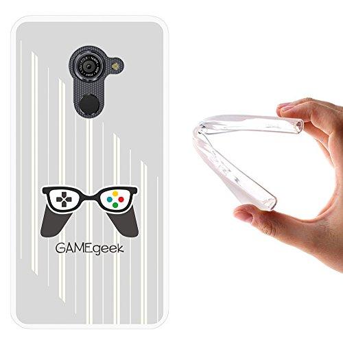 WoowCase Vodafone Smart Platinum 7 Hülle, Handyhülle Silikon für [ Vodafone Smart Platinum 7 ] Game Geek Handytasche Handy Cover Case Schutzhülle Flexible TPU - Transparent