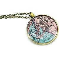 Mappa 1893 Adelaide a mano, gioielleria, collana con ciondolo, motivo: best gift ideas-girlfriend
