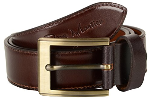 Pera Mantica Men's Leather Belt (PMBCBR054-40, Brown, 40)