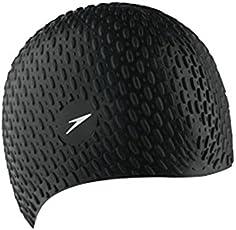 Speedo Bubble Swimming Cap XU (Black)