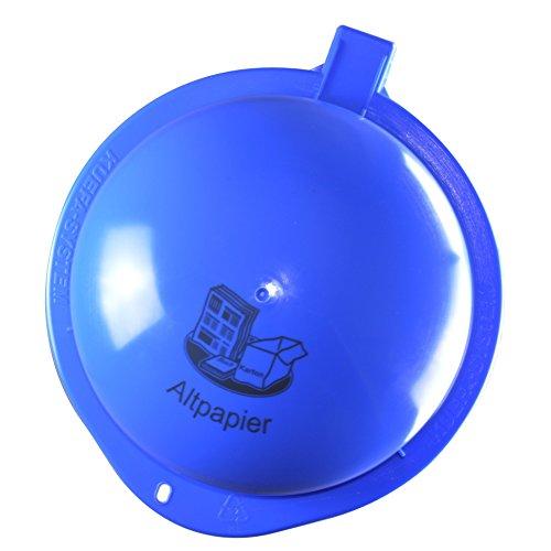 KUEFA Scharnierdeckel mit Lasermarkierung (Blau, Altpapier)