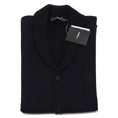 8934F cardigan smanicato blu ZEGNA LANA maglione maglia uomo sweater men [S]