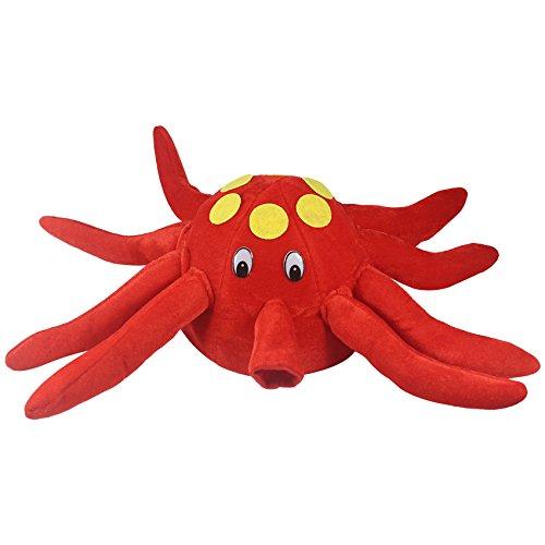 Muskykrafties Requisiten für den Fotoautomaten, Red Octopus Hat, 1-piece