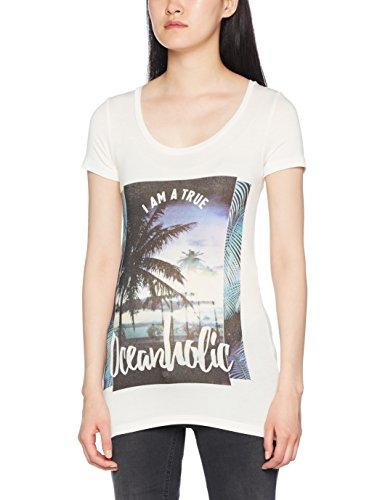 Cap Sleeve T-shirt Jersey (MAMALICIOUS Damen Umstands-T-Shirt Mlbeachy S/S Jersey Top, Weiß (Snow White Snow White), 38 (Herstellergröße: M))