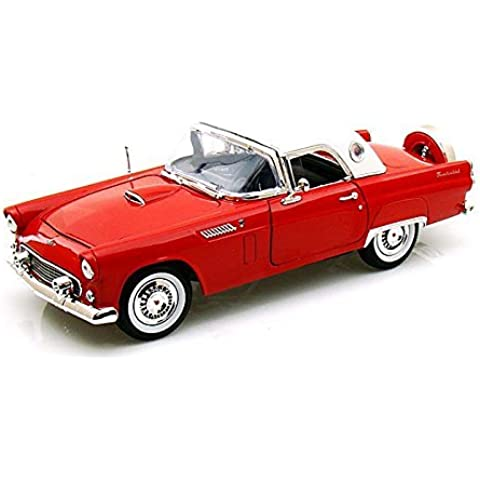 1956 Ford Thunderbird , Red - Motormax 73176 - 1/18 scale Diecast Model Toy Car by Motor Max