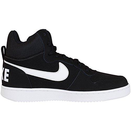 Nike Court Borough Mid, Chaussures de Sport-Basketball Homme, Gris noir/blanc