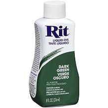 Tinte líquido de tela Rit Dye, 236 ml, negro, verde oscuro, 236ml