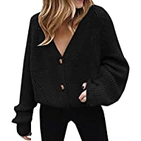 Vrouwen Button Down Open Front Gebreid Vest Winter Warm Jumper Jas Dames Herfst Sweater Jas Meisjes Lange Mouw Sweatshirt Pullover Tops Blouse Plus Size