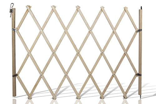 Hunde-Absperrgitter Hundegitter Treppen-Schutzgitter Trenngitter Absperrgitter | verstellbare Breite 60-108 cm | aus Buchenholz