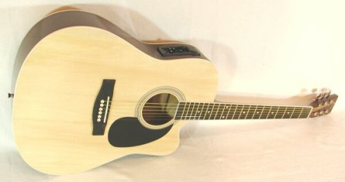 Cher rystone 4260180883268Cutaway Guitarra Western con pastilla cuatribanda Natural