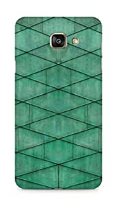 Amez designer printed 3d premium high quality back case cover for Samsung Galaxy A7 (2016 EDITION) (Malachite Grid)