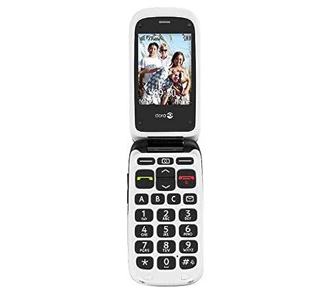 Doro Phone Easy 612 GSM téléphone portable débloqué Noir (Dimensions: