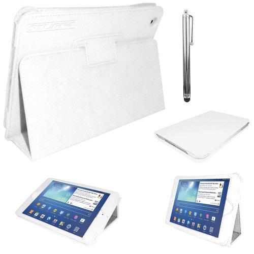 rofessionelle Künstlermappe Magnetverschluss Fall/Stand Cover für 17,8cm Samsung Galaxy Tab 3T210/T211/P3200/P3210/Kids Edition-Weiß ()