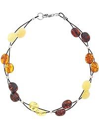 Nature d'Ambre - Bracelet multi rangs - Argent 925 - Ambre - 19 cm - 31812217
