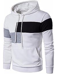 Sudaderas Hombre, Xinan Chaqueta del Suéter del remiendo de los hombres Sudadera con capucha de manga larga Outwear