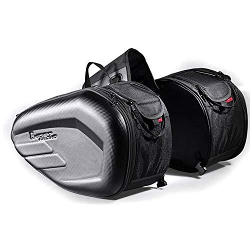 Sen-Sen 58L große Kapazität erweiterbar Motorrad Rücksitz Gepäck Satteltasche schwarz schwarz