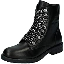 quality design e356a 95bc6 Suchergebnis auf Amazon.de für: schwarze stiefel mit kette