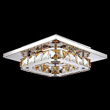 FJ-UMEI ™ conduit cristal encastré, 1light, ambre moderne galvanoplastie acier inoxydable , 110-120v